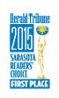 First Place: Herald Tribune 2015 Sarasota Reader's Choice
