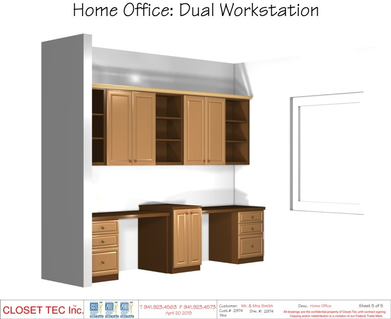 Nice CAD Design   Home Office: Dual Workstation