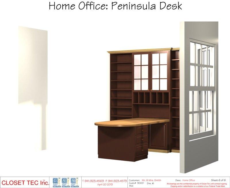 CAD Design   Home Office: Peninsula Desk
