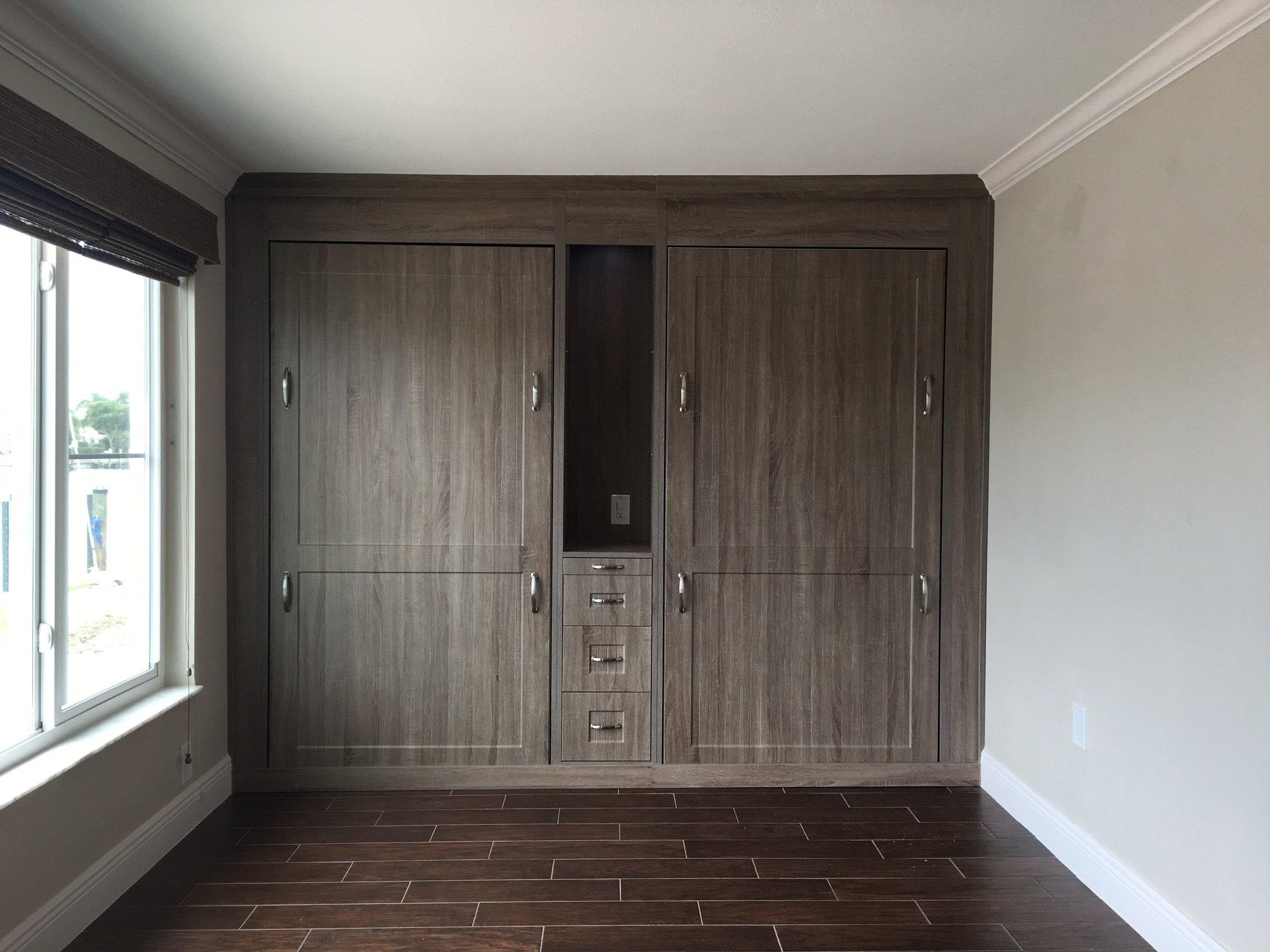 Custom Made Modern Wall Beds For Sarasota Home Closet